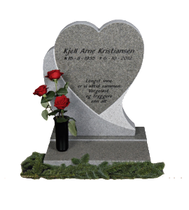 monument hjerte m roser